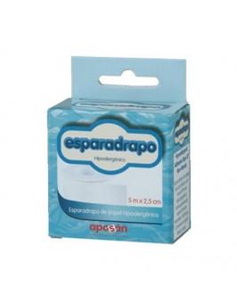 """ESPARADRAPO HIPOALERGICO APOSAN PAPEL 5 X 2""""5"""