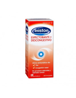 INISTON EXPECTORANTE Y DESCONGESTIVO JARABE 1 FRASCO 200 ML