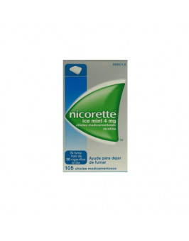 NICORETTE ICE MINT 4 MG 105 CHICLES MEDICAMENTOSOS