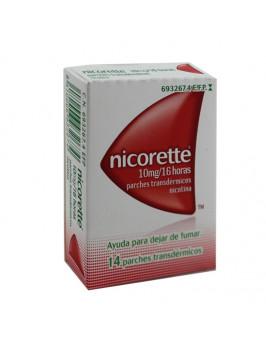 NICORETTE 10 MG/16 H 14 PARCHES TRANSDERMICOS 16,6 MG