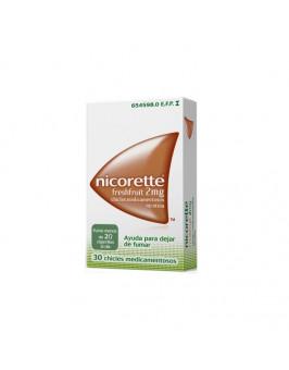 NICORETTE FRESHFRUIT 2 MG 30 CHICLES MEDICAMENTOSOS